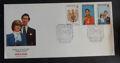 Belize 1981 Royal Wedding FDC First Day Cover