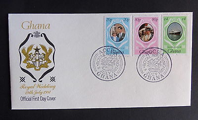 Ghana 1981 Royal Wedding FDC First Day Cover Princess Diana Prince Charles
