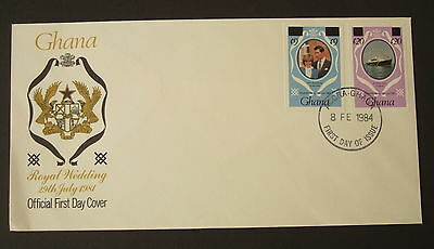 Ghana 1981 Royal Wedding 1984 revalued booklet stamp FDC First Day IMPERF Diana