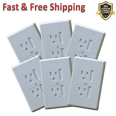 Outlet Covers Alternative Wall Socket Plugs for Child Proofing Outlets White New