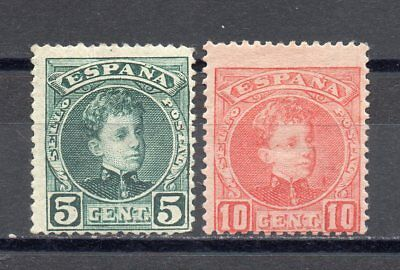 SPAGNA 1901 - Alfonso XIII 2 val.ling.  (378)