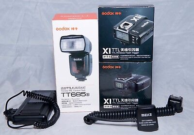 Godox TT685S + X1Ts trigger + Battery power Bank for rapid recharging