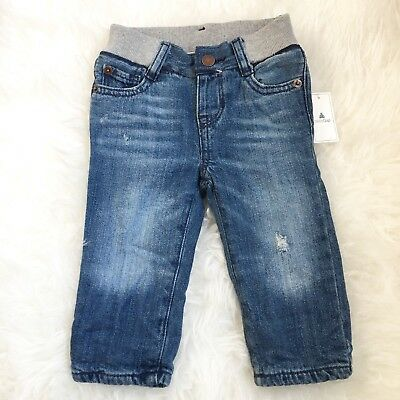 NWT Baby Gap 6-12 Months Fleece Lined Jeans