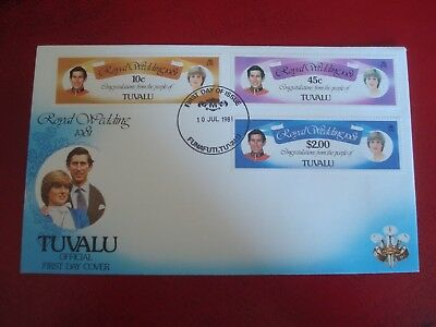 Tuvalu - 1981 Royal Wedding - First Day Cover -  Ex. Condition