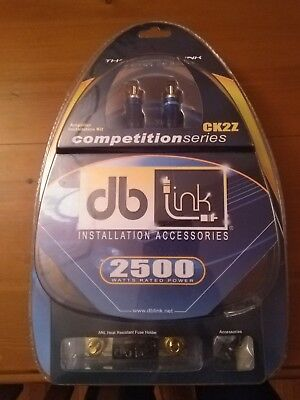 Brand New - DB LINK CK2Z 2 Guage Car Amplifier w/ 2x Pair RCAs Amp Wiring Kit