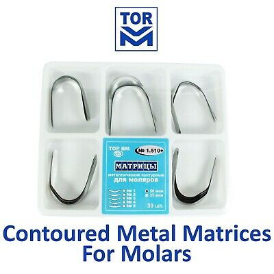Dental Contoured Metal Matrix Matrices Molars TOR VM 1.510+ 30pcs