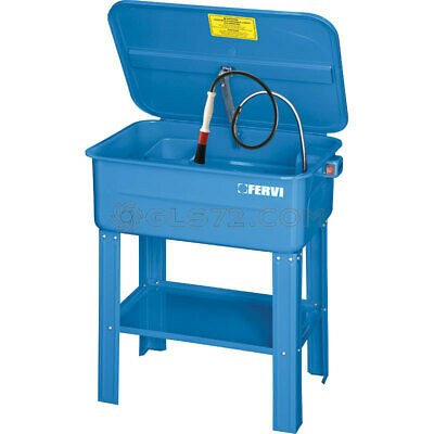 Part Washer 75L With Pump Tank Cleaner Cleaning Bench Degreaser Fervi 0038