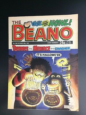 The Beano UK Paper Comic No. 2467 October 28 1989