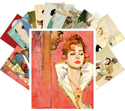 Postcards Pack [24 cards] Vintage Romance Magazine Art by Coby Whitmore CC1168