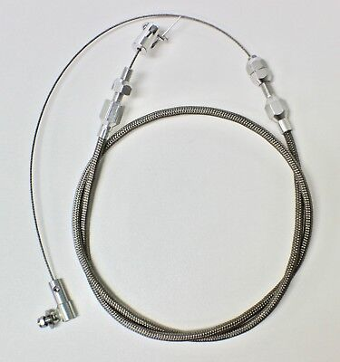 "36"" Throttle Cable Braided Stainless Steel Universal Accelerator Ford,chev,hotro"