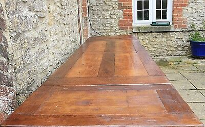 Stunning 10.5 ft (320cm) Solid Oak French Farmhouse Refectory Table by Antix