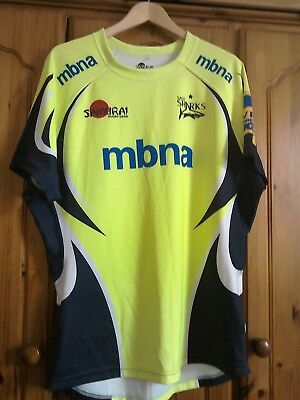 Sale Sharks rugby shirt player fit 5XL 2016 fluoro away