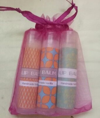 100% Organic Beeswax Lip balm 3pack UNSCENTED (Free Postage)
