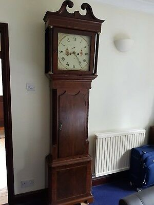 18th Century Georgian Mahogany Longcase Grandfather Clock