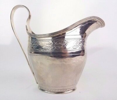 Jug Silver Classic Georgian Solid Sterling Silver John Langlands Newcastle 1796