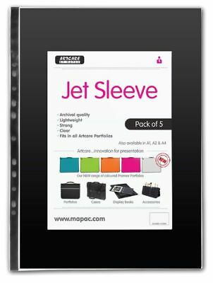 Mapac Jet Clear Artist Student Portfolio Sleeves (Packs of 5)
