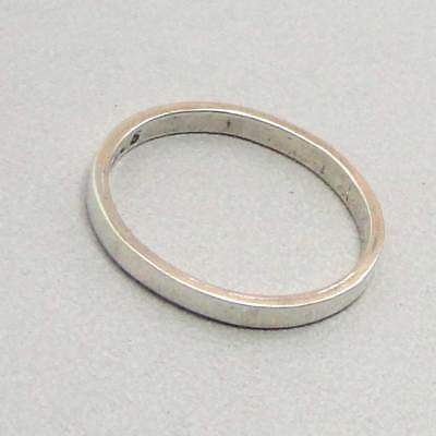 Sterling Silver Jewelry Thumb Mid Ring Size 4.75 Handmade Cheap Jewelry # 14040