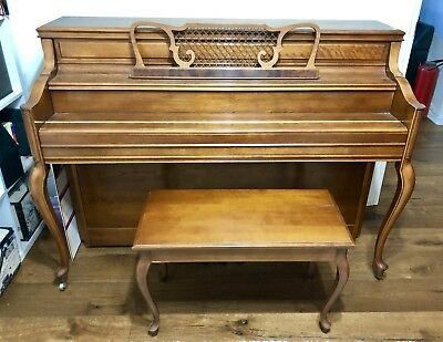 Yamaha M2HR Upright French Provincial Style Piano Matching Stool With Storage