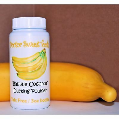 BANANA COCONUT Scented Body Dusting Powder TALC FREE 3oz