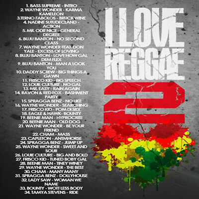 I LOVE REGGAE 2 Mixtape DJ Compilation Mix CD