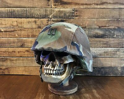 Genuine US ARMY PASGT Ballistic Kevlar Helmet - SMALL - MILITARY CAPTAIN- DuPont