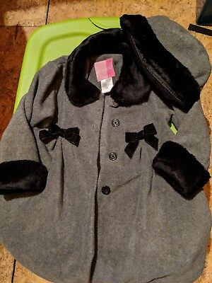 Goodlad Girl's Fleece Dress Coat with hat