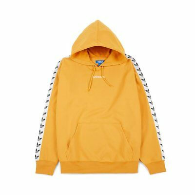 Adidas Trefoil Logo TNT Taped Men Pullover Hoodie Yellow Small BS4669 550f3839cbcc