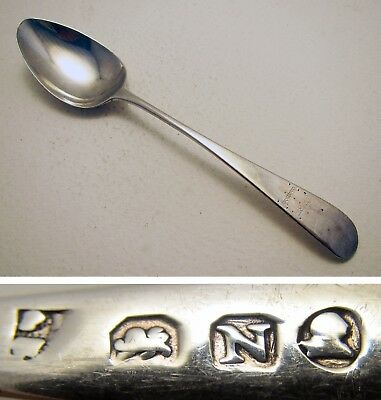 Bateman GEORGIAN Solid Sterling Silver English George III Tea Spoon 19th-Century