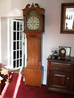 Super Golden oak longcase/grandfather clock c1830 GWO