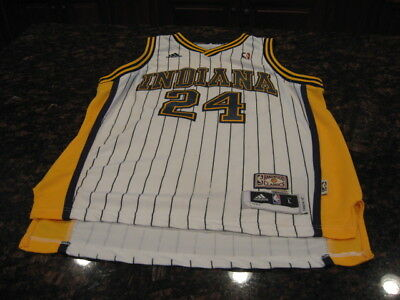 size 40 82686 c249b ADIDAS INDIANA PACERS Paul George Jersey #24 Sitched Jersey White GUC