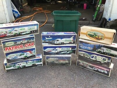 Lot of 11 Hess Toy Trucks w/ Original Boxes The First Hess Truck