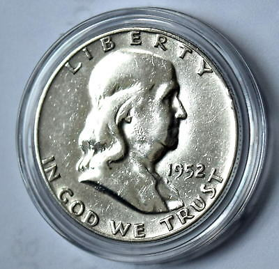 1952 D Franklin Bu Half Dollar 50C Full Crack Collectible Coins Gift Idea Q5
