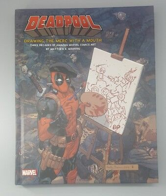 Loot Crate DEADPOOL Drawing the Merc with a Mouth HARDCOVER BOOK dx EXCLUSIVE