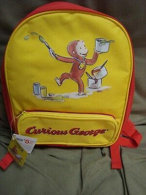 CURIOUS GEORGE Yellow Backpack NEW