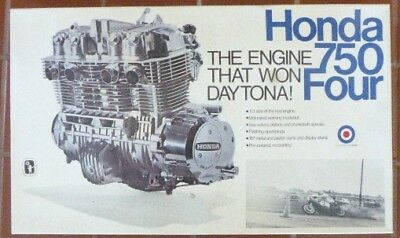 Rare Nib Entex 1/3 Scale Honda 750 Four Engine