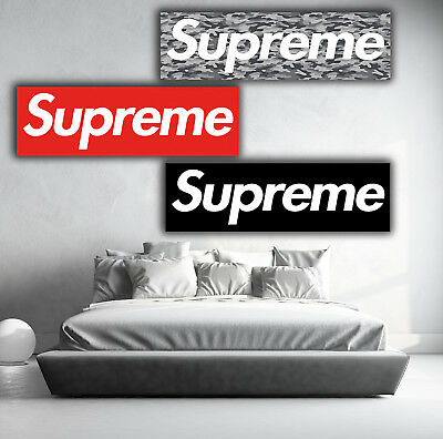 BRAND NEW LARGE 3-PACK SUPREME WALL POSTER MURAL 20x60 X 3    Premium Paper
