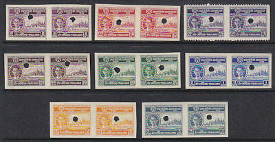 SG 328-35 1950 Coronation Imperf Proof set in pairs MUH