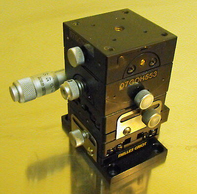 Nice Lab Surplus Melles Griot Precision XY Stage with Goniometer