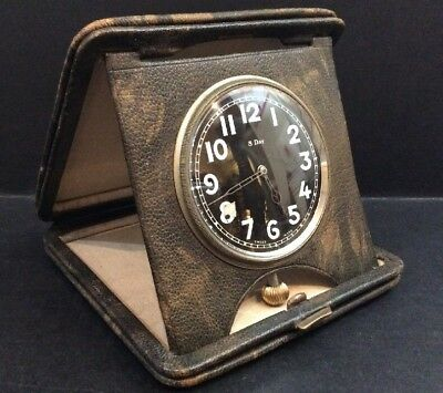 Vintage 1930's/40's Swiss Made 8 Day Travel Clock