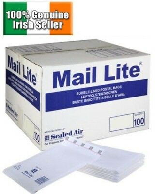 Mail Lite / Lites Sealed Air Padded Envelopes Bubble Lined White A/000 B/00 C/0