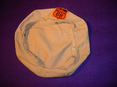 Vintage Phillips 66 Gas Station Hat Cover with Original Patch
