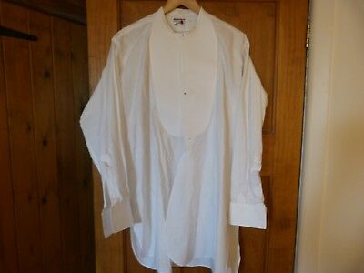 Vintage starched tunic shirt size 17 Rocola 1920s 1930s formal dress collarless