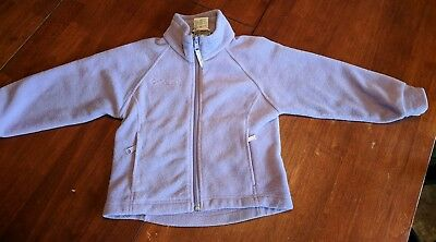 Girls Columbia Brand Lightweight Fleece Jacket Size 4/5