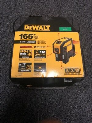 New Dewalt Dw0851  Laser Self Leveling 5 Spot 100' Range Kit 2667335