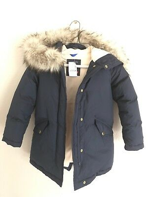 J Crew Crewcuts Puffy Jacket Navy girls 7-8