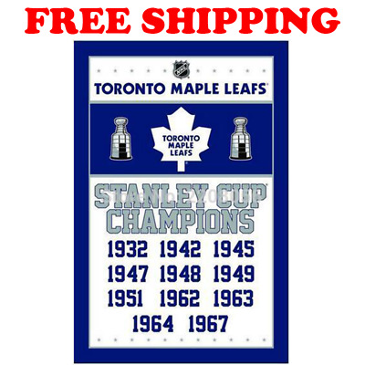 Toronto Maple Leafs Stanley Cup Flag 2018 NHL Champions Banner 3x5ft 2 Grommets