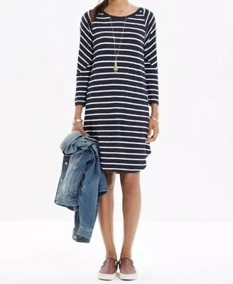 8c63d8bacb3 Madewell Cointoss Striped T-shirt Dress Nautical Stripes Woman s XS SOLD OUT
