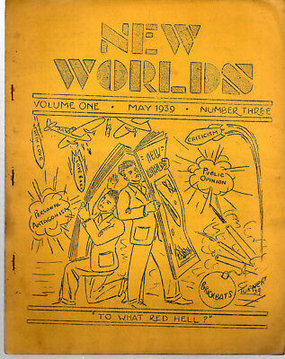NEW WORLDS May 1939 (V1 No3) / ed John 'Ted' Carnell / science fiction fanzine