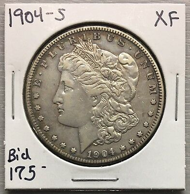 1904-S Morgan Silver Dollar Extremely Fine XF KEY DATE