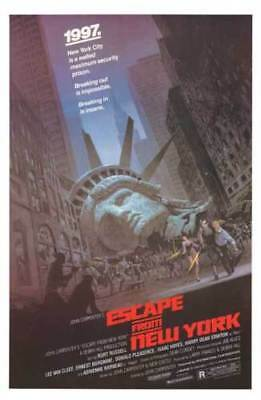 Escape from New York | LARGE 24X36 MOVIE POSTER |Premium Poster Paper